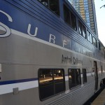 A bordo del Pacific Surfliner en San Diego @California