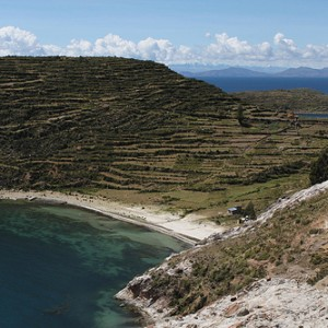 Playas en la Isla del Sol (Lago Titicaca)