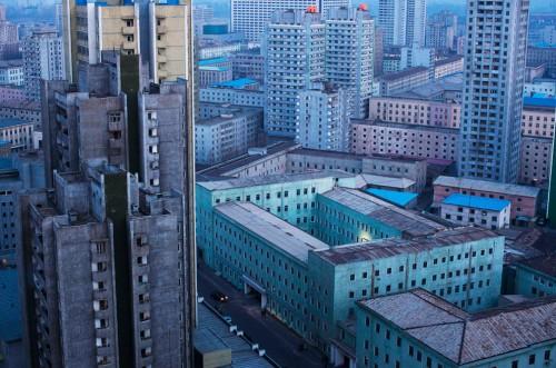 Edificios de Pyongyang en Corea del Norte