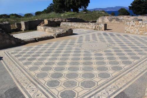 Mosaico de las ruinas de Empuries