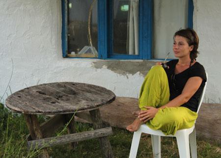 Silvia disfrutando de su vuelta al mundo