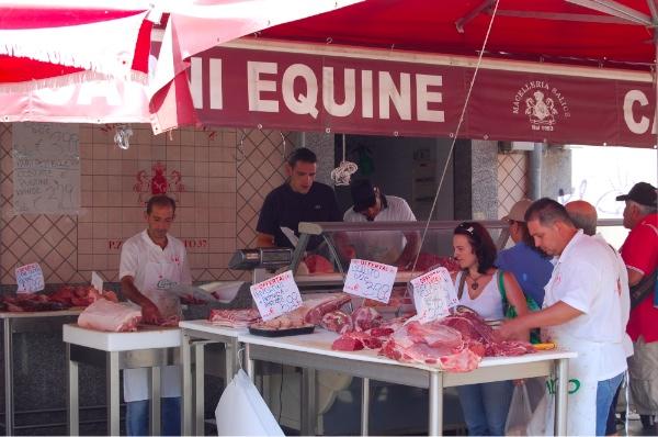 Carne en el mercado de Catania