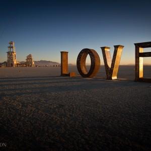 Amanecer en el Burning Man 2011