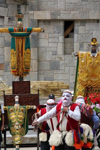 Sincretismos inca y católico en Aguas Calientes