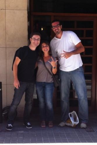 El equipo original de 3viajes: Manuel, Silvia y Marc