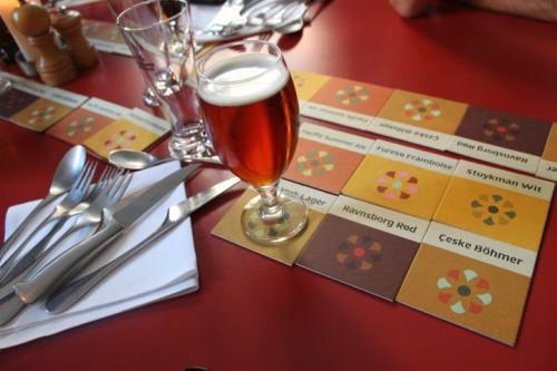 Maridaje de cervezas en la cervecería Norrebro de Copenhagen