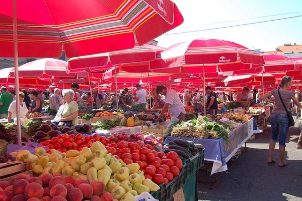Mercado Dolac en Zagreb