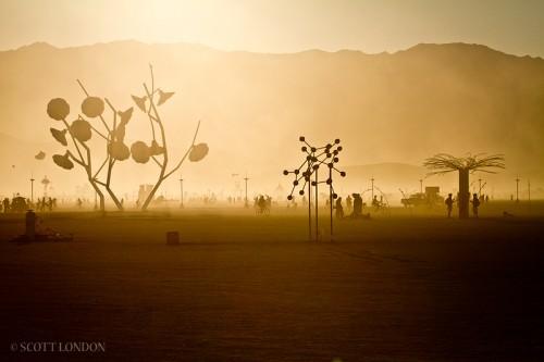 Paisaje del Burning Man 2011