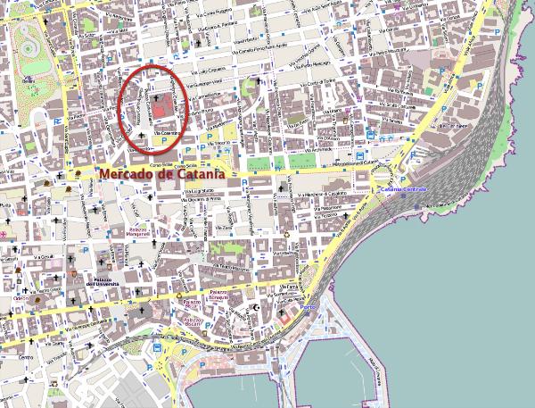 Plano de Catania y su mercado
