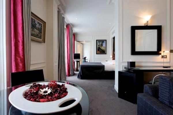 Habitación del Hotel La Trèmoille
