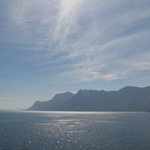 La costa de las ballenas de Sudáfrica