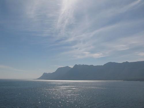 Costa de las ballenas de Sudáfrica
