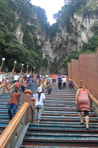 Las escaleras de las Batu Caves de Kuala Lumpur