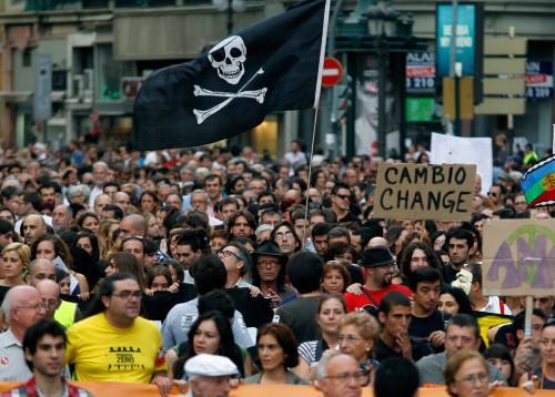 Manifestación 15O en Valencia