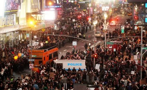 Manifestación en Times Square de Nueva York 15O