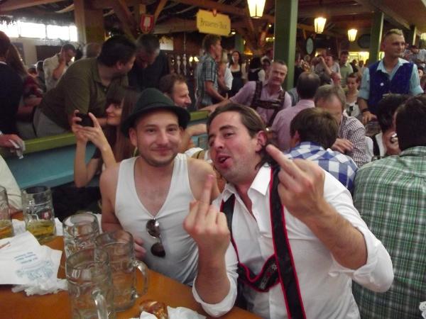 Unos neozelandeses en el Oktoberfest