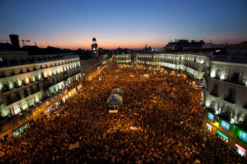 Plaza del Sol en Madrid el 15O