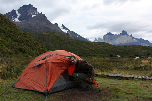 Acampando durante el trekking @3viajes