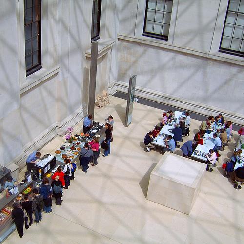 Vista de la zona de restauración del Museo Británico