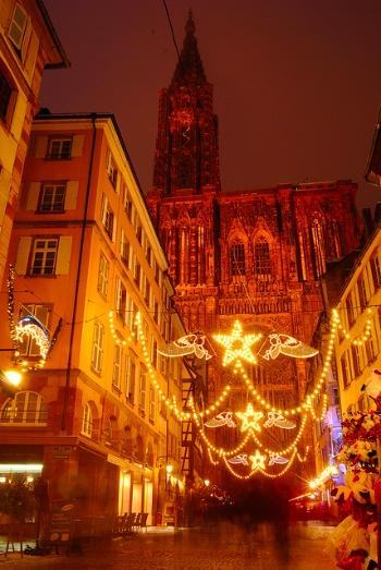 Catedral de Estrasburgo en Navidad