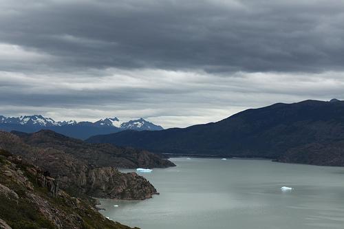 Hielo sobre el lago del Glaciar Grey @3viajes