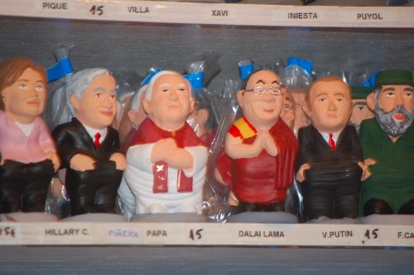 Caganers del Papa, el Dalai Lama o Vladimir Putin...