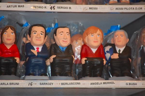 Caganers de la Merkel, Sarkozy, el denostado Berlusconi...