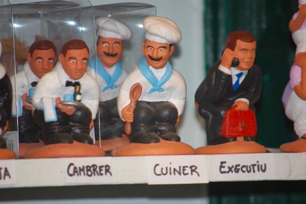 Caganers por profesiones: cocineros, camareros, ejecutivos...