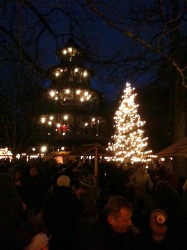 Mercado de Navidad de la Torre China de Munich