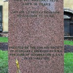 Piedra en honor a Bobby en el cementerio de Greyfriars
