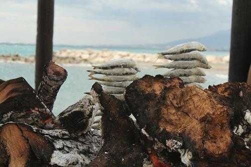 Espetos de boqueron en Málaga