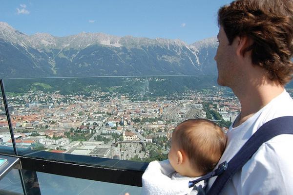 Eric y Manuel disfrutando de las vistas de Innsbruck, Austria
