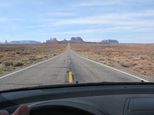 En el Forrest Gump Point desde el coche
