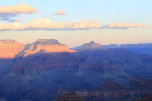 Colores de la puesta de sol en el Grand Canyon