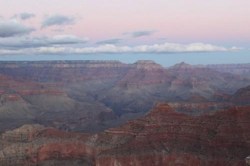 Más colores de la puesta de sol desde el South Rim del Grand Canyon