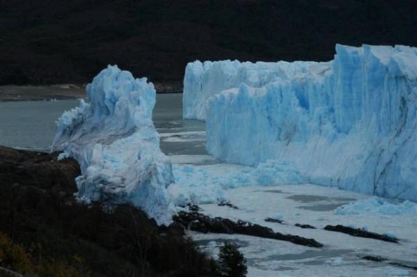 Glaciar Perito Moreno tras la ruptura