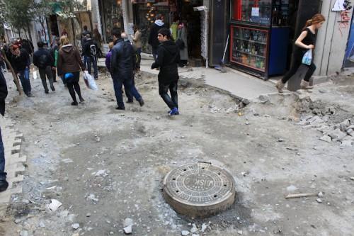 Calle de Beyoglu en Estambul