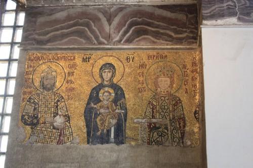 Emperador de bizancio en Santa Sofia de Estambul