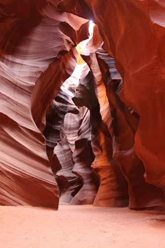 Dentro de Antelope Canyon