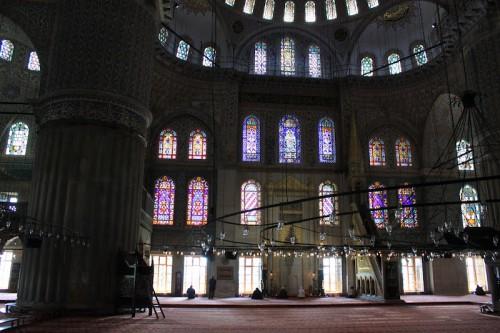 Interior de la mezquita Azul de Estambul