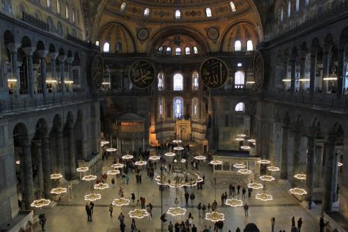 Interior de Santa Sofia en Estambul