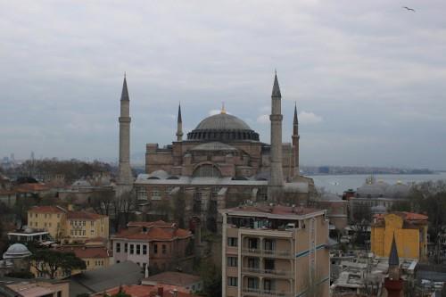 Vista de la basílica de Santa Sofía de Estambul