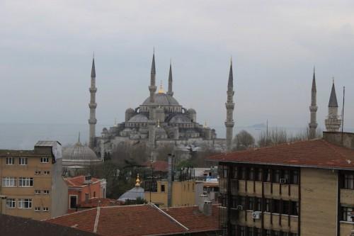 Vista de la Mezquita Azul de Estambul