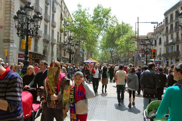 Paseando por Las Ramblas de Barcelona