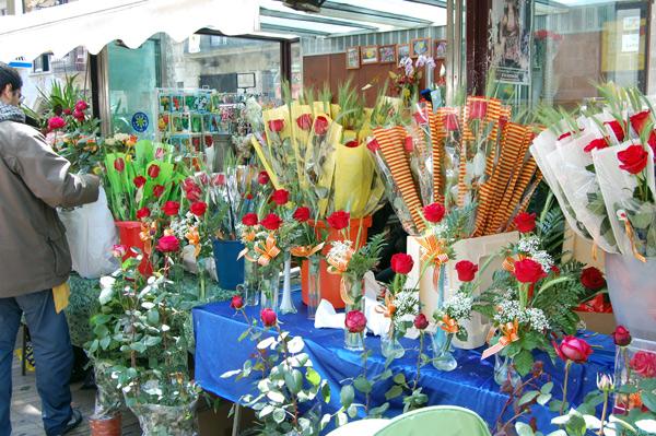 Rosas en Sant Jordi