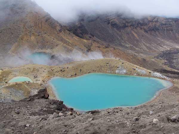 Lagos Azul y Esmeralda en Tongariro @3viajes