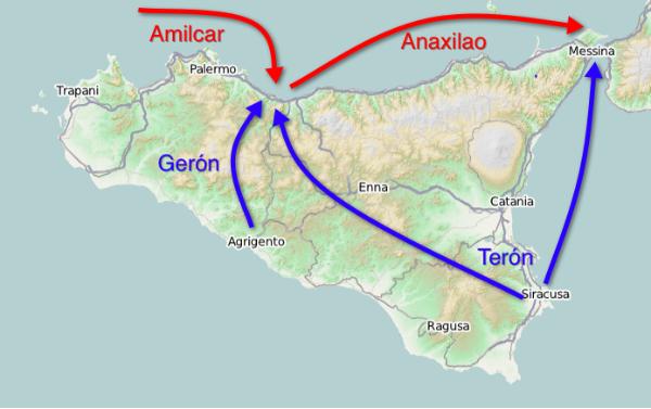 Sicilia, Batalla de Hímera