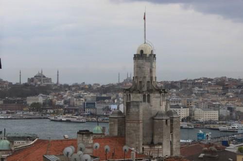 Vista del Bósforo desde el Hotel Anemon de Estambul