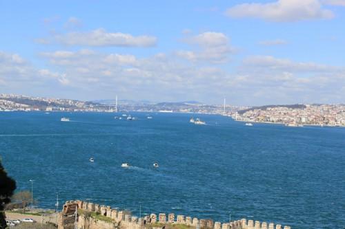 Vista panorámica del Mar de Mármara desde el Palacio Topkapi de Estambul