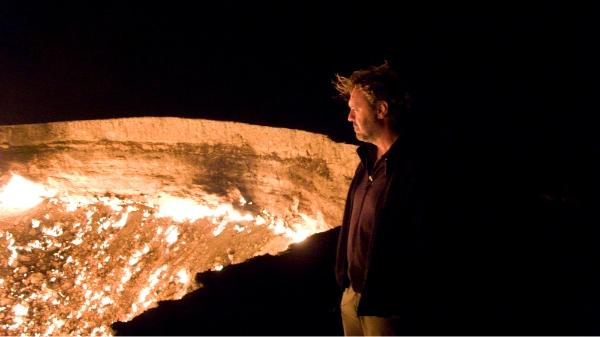 En el crater que arde de Turkmenistán